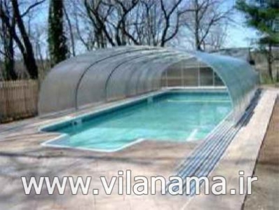 طراحی سقف ویلا، پوشش سقف دکرا، پوشش سقف استخر، پرچین