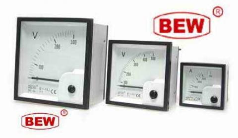 آمپر متر BEW - ولت متر BEW -  فرکانس BEW - آمپر متر سایز 96 - آمپر و ولت - آمپر متر 200/5 A
