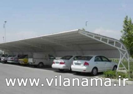 اجرای پارکینگ با سقف یو پی وی سی upvc با زیرسازی کامل