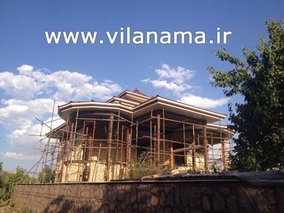 طراحی و اجرای سقف ویلا با ورق كلاسیک و رنگ استاتیک