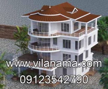 طراحی سه بعدی سقف ویلا، طراحی و اجرای سقف شیبدار